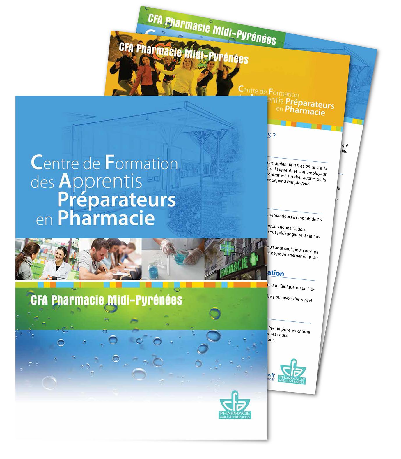 Chemise à rabats pour documents A4 - CFA Pharmacie Toulouse